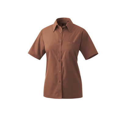 Bluse halbarm Modell 451 60% Baumwolle, 40% Polyester toffee 52