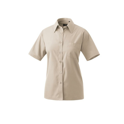 Bluse halbarm Modell 451 60% Baumwolle, 40% Polyester sand 50