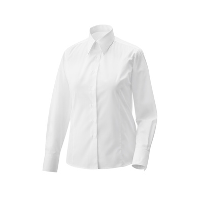 Bluse tailliert Fb. Modell 456 60% Baumwolle, 40% Polyester weiß 36