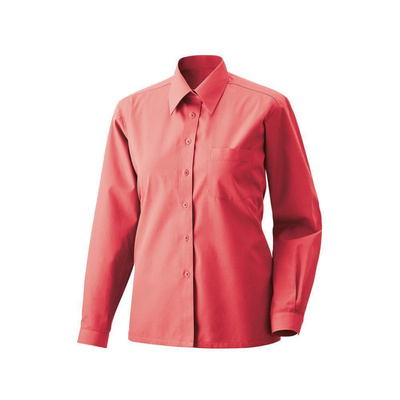 Bluse langarm Fb Modell 450  60% Baumwolle, 40% Polyester rot 48