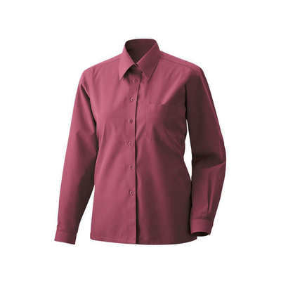 Bluse langarm Fb Modell 450  60% Baumwolle, 40% Polyester bordeaux 42