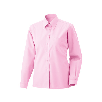 Bluse langarm Fb Modell 450  60% Baumwolle, 40% Polyester rosa 36