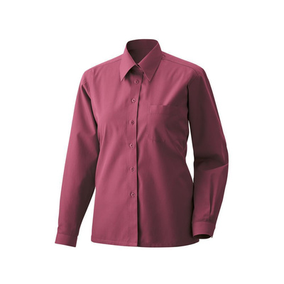 Bluse langarm Fb Modell 450  60% Baumwolle, 40% Polyester bordeaux 50