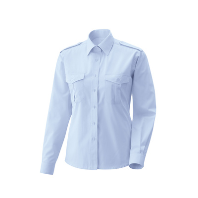 Damen Pilotenbluse, langarm light blue 36