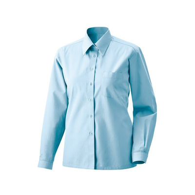 Bluse langarm Fb Modell 450  60% Baumwolle, 40% Polyester light blue 34